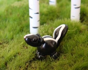 Cute Clay Skunk- polymer clay