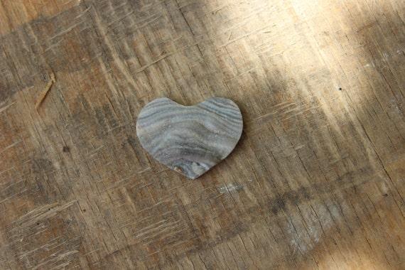 Druzy chalcedony heart shaped cabochon 25mm