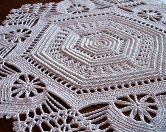 Doily  Irish Crochet   Wedding Centerpiece  Tabletop Decoration  Placemat  Home Decor  Made to Order