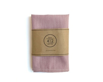 Wine Pinstripe Cotton Pocket Square for mens gift wedding gift / ready to ship