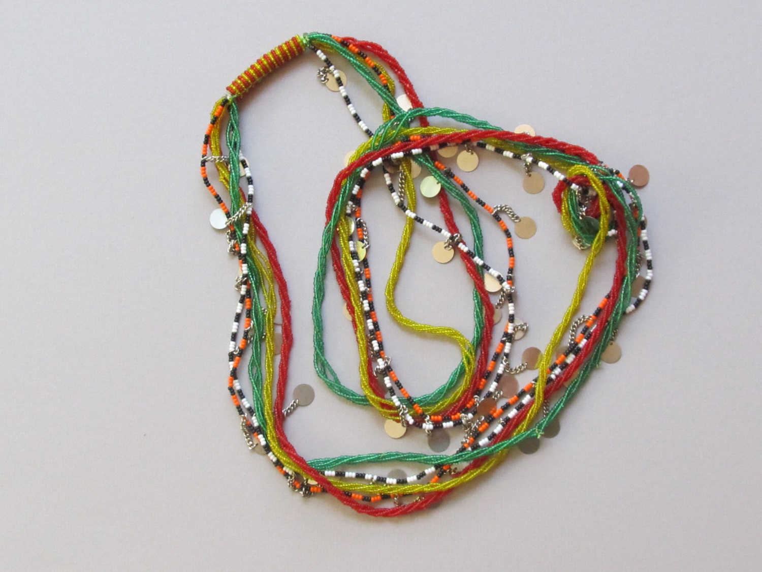 maasai beaded necklace from kenya kmn 1