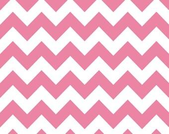 SALE | Pink Chevron Fabric by Riley Blake - 1/2 Yard