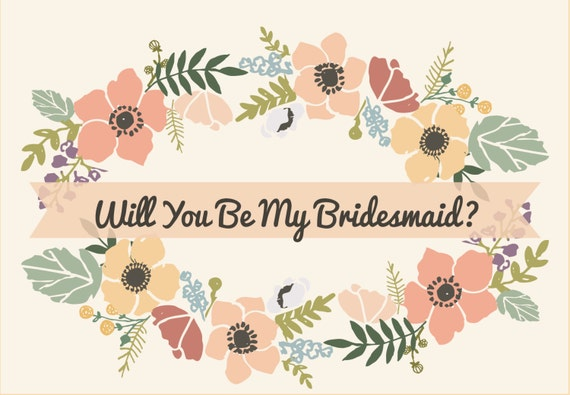 Items Similar To Will You Be My Bridesmaid Invitation