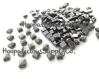 100pc Acrylic Studs. Sew or Glue. 6mm Square Pyramids. Choose: Silver,Gold,Brass,or Gun Metal. FAST Shipping w/ Tracking 4 Domestic Orders.