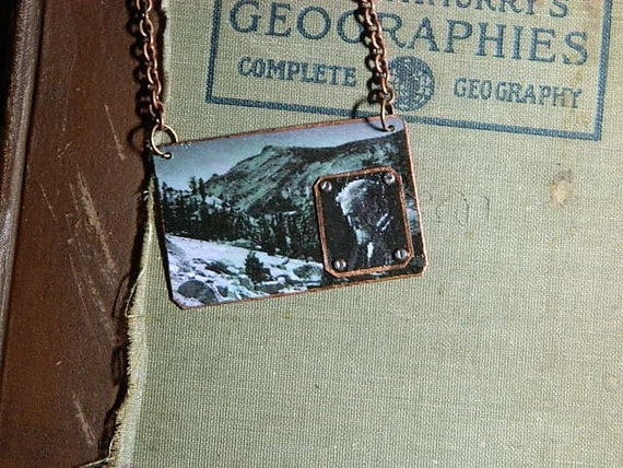 John Muir necklace Yosemite  Naturalist History Wilderness National Park
