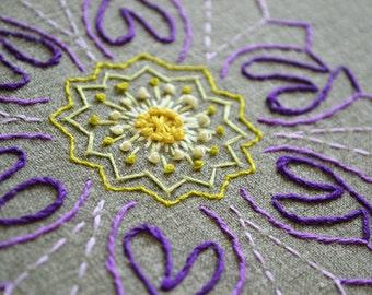 embroidery pattern mandala FLOWER modern hand embroidery