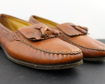 Vintage Mens Bally Switzerland Leather Loafers mens 13