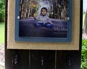 Distressed Picture Frame, 8x10 Frame, Plank Frame, Keyholder, Kitchen Organizer, Leash Holder