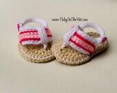 Newborn Girls Flip Flop Sandals Summer Shoes Crochet  Photo Prop