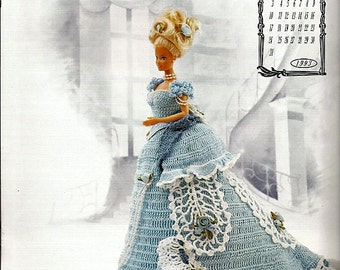 The Victorian Lady Centennial Collection Miss October 1993 Fashion Doll  Crochet Pattern  Annies Calendar Bed Doll Society 7610