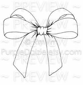 Downloadable Pretty Bow Printable Coloring Page Silk Bow Zen