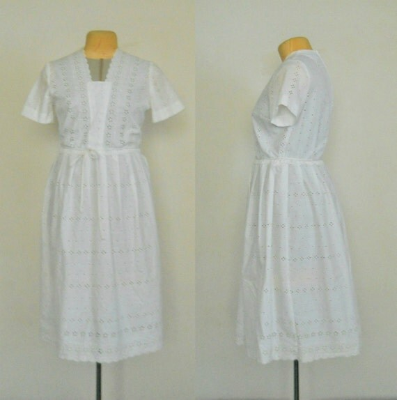 White summer dress white cotton wedding dress by for Simple cotton wedding dress