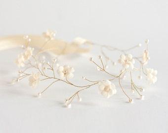 20_Tiara, Bridal tiara, Bridal hair accessories, Wedding bridal tiara, Wedding flower crown, Tiara bride, Bridal headpiece, Headband,  Pearl