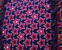 Patriotic Fleece Blanket patriotic stars red white blue
