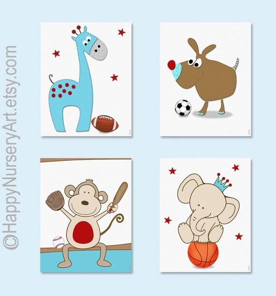 Sports Baby Boy Nursery Ideas: Nursery Decor Sports Theme Nursery Art By HappyNurseryArt