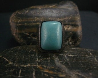 amazonite gemstone ring,handcrafted ring,fine silver ring,amazonite jewelry