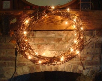 Handmade ooak grapevine wreath or garland unprocessed for Arland decoration