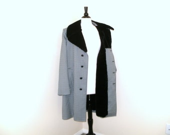 Vintage London Fog Winter Fall Coat - Houndstooth,  Lined, Never Worn, Limited Edition