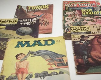 Lot of 6 Collectible Magazines Comics 40s - 70s