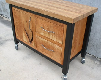 industrial sideboard etsy. Black Bedroom Furniture Sets. Home Design Ideas