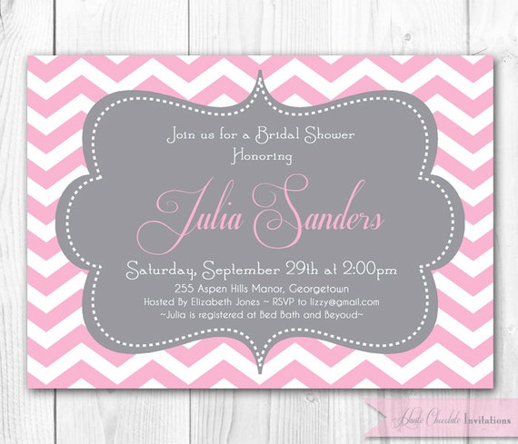 Chevron Baby Shower Invitations Baby Shower Invitation Baby