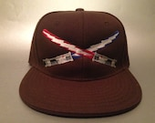 Dueling Boltsabers Fitted Hat made to order Star Wars/ Grateful Dead flat bill FREE SHIPPING