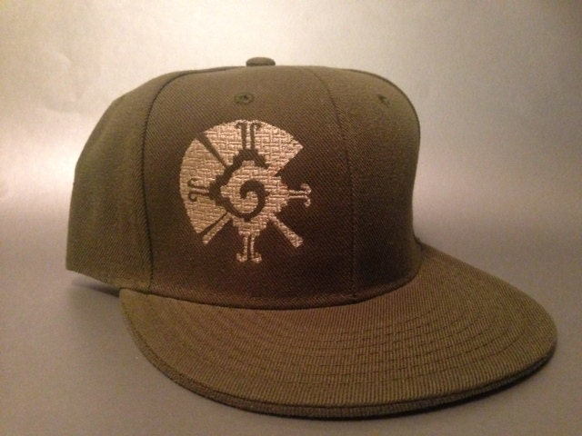 Mayan Hunab Ku Waffle Fitted Hat Made To Order Galactic