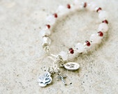 Confirmation Sterling Silver & Rose Quartz Rosary Bracelet