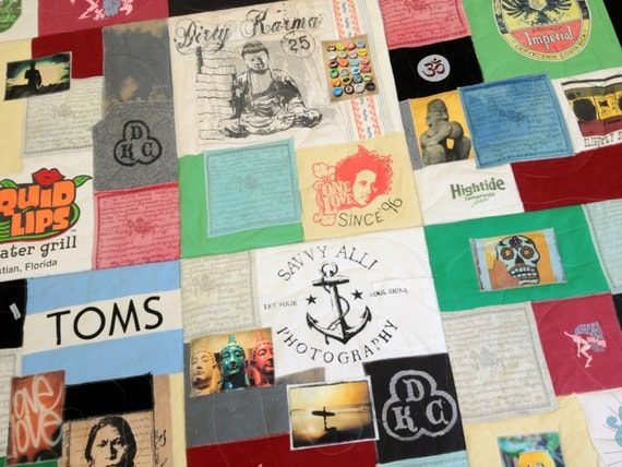 Tshirt Quilt / Memory Quilt / Tshirt Blanket / Custom Made with YOUR Tshirts & Clothes