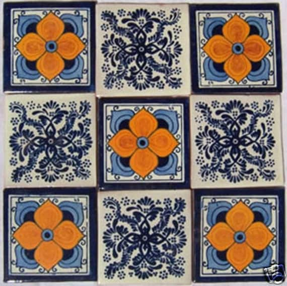 Items similar to spanish mediterranean decor 9 hand for Spanish decorative tile