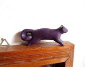 Jimmy - squirrel sparkly burgundy handmade OOAK polymer clay figurine