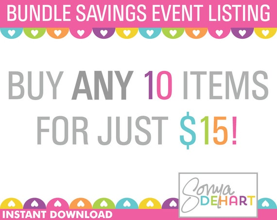 Clipart Bundles and Digital Papers Buy ANY 10 Items Sale Royalty Free ...