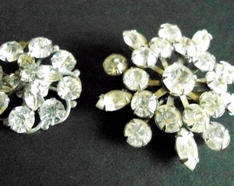 Rhinestone Brooches/Pins Set of (2) Unsigned