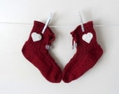 Red Slipper Socks, Lacing Slippers for Women - fizzaccessory