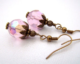 Victorian Earrings Estate Style Jewelry Pink Earrings Old Hollywood Delicate Dainty Vintage Inspired Neo Victorian Jewelry