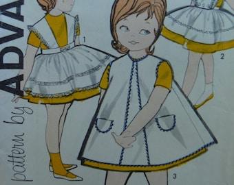 Pretty Pinafore set for little girls Advance Pattern 9562 size 4
