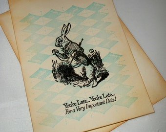 Alice in Wonderland Invitations-Baby Shower invitations-Bridal Invitations-Set of 12