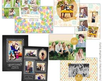Easter Photocards Bundle - PSD Template for photographers- E731
