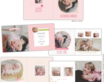 12x12 Baby girl album template - Bundle of love - EB628