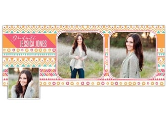 INSTANT DOWNLOAD - Facebook custom timeline cover photoshop template - E795