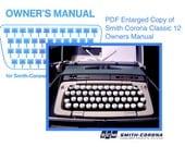 Smith Corona Classic Twelve Owners Manual