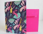 Rabbits Card ( purple version ) / Carte Lapins ( version violette )