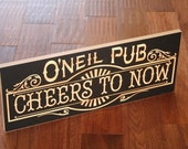 Personalized Bar Sign, Rustic Bar Sign, Custom Home Bar Sign, Personalized Rustic Bar Sign, Benchmark Custom Signs Maple SB