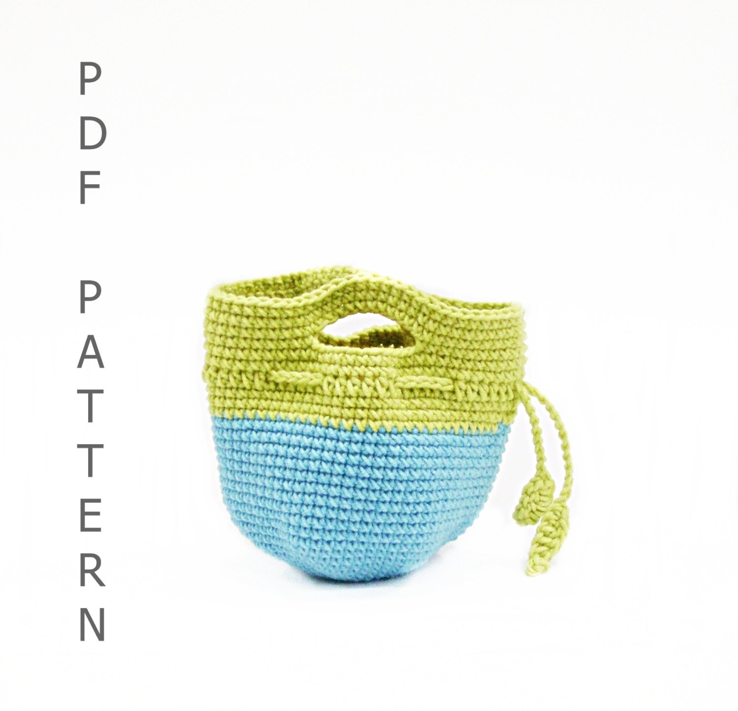 PDF Crochet Pattern Apple Cozy Lunch Bag DIY by DuduToyFactory