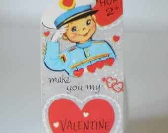 1964 Valentines Card-  Military Soldier Drum Major