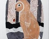 Bunny Illustration Art - Watercolor Painting - Archival Prints - Little Bunny Nahko