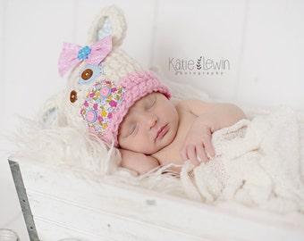 Newborn Cow Hat - Photo Prop - Newborn - Barnyard Cutie