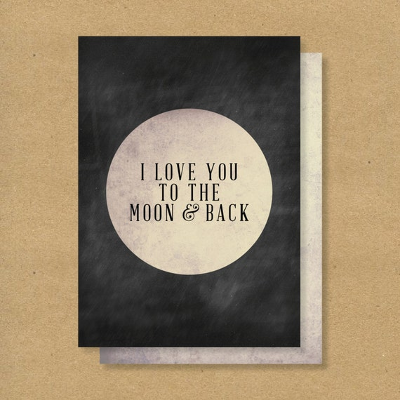 Items Similar To I Love You To The Moon And Back Vinyl: Items Similar To VALENTINES DAY CARD