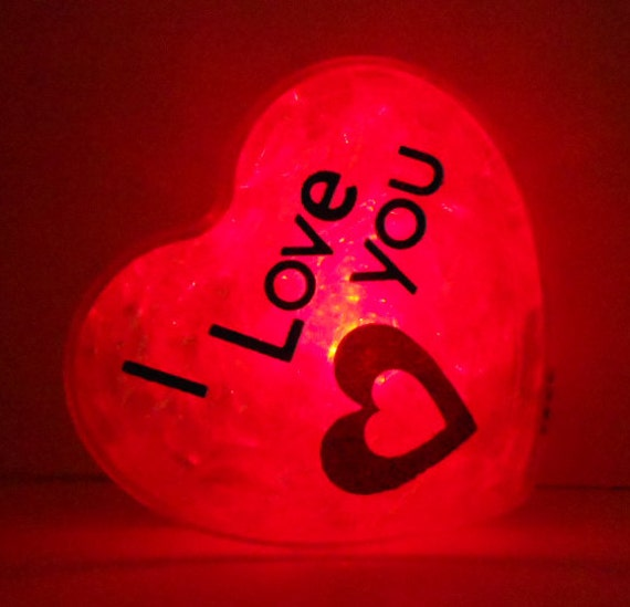 GlowHeart (I love you)- unique, cool gadgets, geek, gift for him, valentines day gift