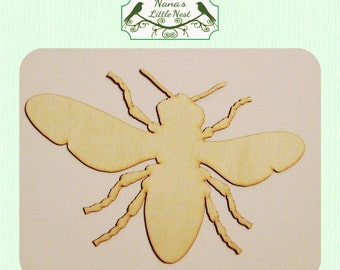 Bumble Bee (Medium) Wood Cut Out - Laser Cut